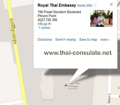 map Royal Thai Embassy Cambodia