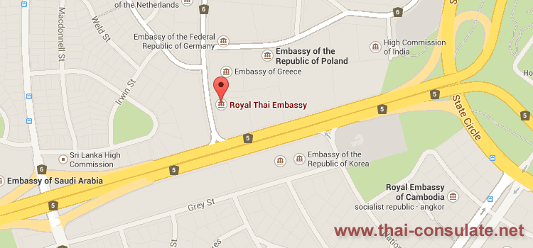 Thai Embassy Australia Thai Consulate Thai Embassy - Netherlands embassy kuwait map