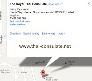 map Royal Thai Consulate in Hull