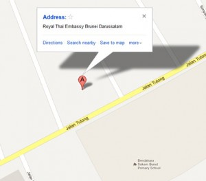 map Royal Thai Embassy Brunei Darussalam