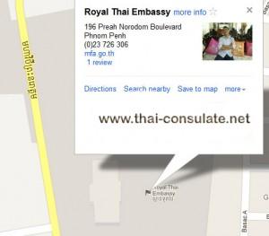 map Royal Thai Embassy Cambodia