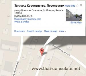 map Royal Thai Embassy Russia