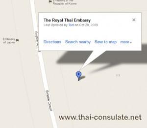 map Thai Embassy Australia - Canberra