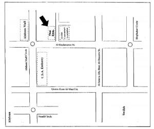 map Thai Embassy Jordan