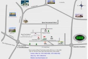 map Thai Embassy Qatar