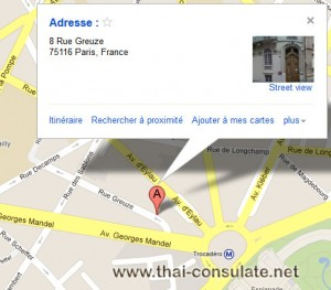 Thai Embassy in France