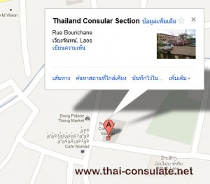 map Thai Embassy in Laos