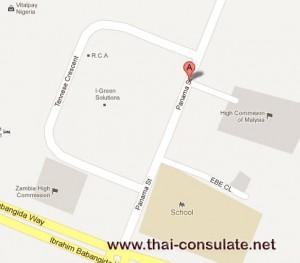 map Thai Embassy in Nigeria