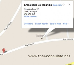 map Thai Embassy in Portugal