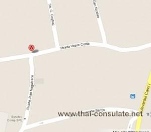 map Thai Embassy in Romania