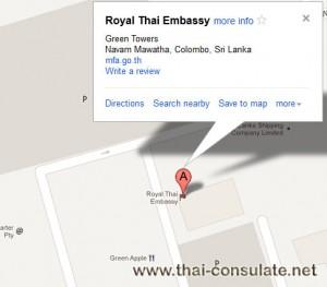 Thai Embassy in Sri lanka