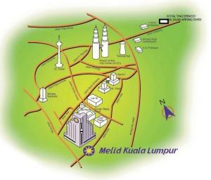 map Thai Embassy in Kuala Lumpur