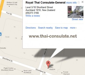 map Royal Thai Embassy - Auckland